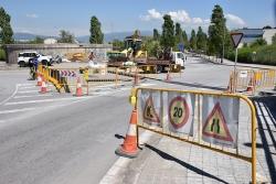 Obres a la xarxa de subministrament d'aigua a la zona del dipòsit d'aigua situat entre el carrer de Can Parellada i el Camí de Can Masferrer