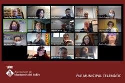 Un moment de la sessió telemàtica del Ple ordinari del mes de maig