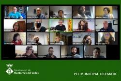 Ple telemàtic de l'Ajuntament de Montornès (Captura de la sessió del 3 de juny de 2021)