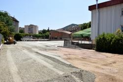 Obres del nou aparcament al costat de l'OAC Centre