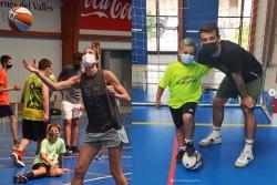 Anna Cruz i Eric Pérez són dos dels jugadors que han passat pels campus de bàsquet i futbol sala