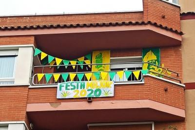 2n premi del Concurs de balcons i finestres 2020, obra de Rosa Ibáñez (imatge: Penya Pere Anton)