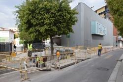 Tram de la rambla de Sant Sadurní afectat per la construcció d'un pas elevat