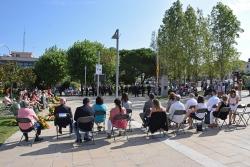 Un moment de l'acte institucional de la Diada Nacional de Catalunya 2021.