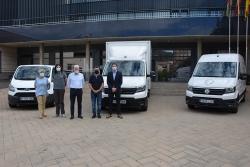 Acte de presentació dels vehicles industrials cedits a l'Ajuntament.