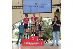 Laia Rodríguez a la darrera prova de la Copa Catalunya Infantil BTT (imatge: Susana García)