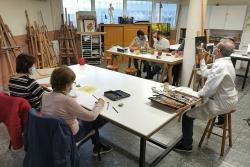 Taller de dibuix i pintura al Casal de Cultura