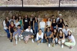 El grup universitari durant la visita a Mons Observans