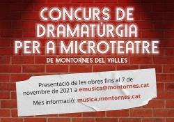Destacat concurs de dramatúrgia per a microteatre (Escola Municipal de Música, Dansa i Aula de Teatre)