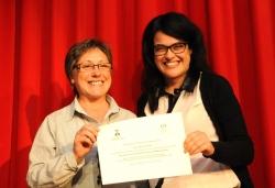 28-11-2013 - L'accèssit del V Premi Font de Santa Caterina de Microcontes, Sílvia Riera