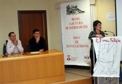 28-11-2007 - Acte literari a la Biblioteca: Lliurament de premis i lectura de microcontes Font de Santa Caterina