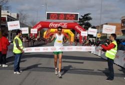 L'arribada del guanyador dels 5 Km Montornès