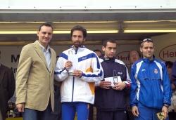 Els guanyadors dels 5 Km amb l'alcalde
