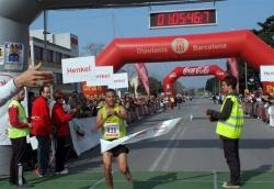 Arribada del guanyador de la MItja: Mohamed Benhmbarka