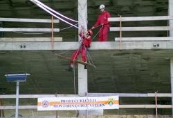 Exhibició de rescat amb l'Associació de Voluntaris de Protecció Civil