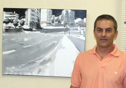 Jordi Torrent Colomer, guanyador del Concurs de Pintura Ràpida 2007, amb la seva obra