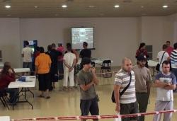 Torneig Pro-Evolution 6 de PlaySatation 2 a la sala d'actes de la Parròquia de Sant Sadurní
