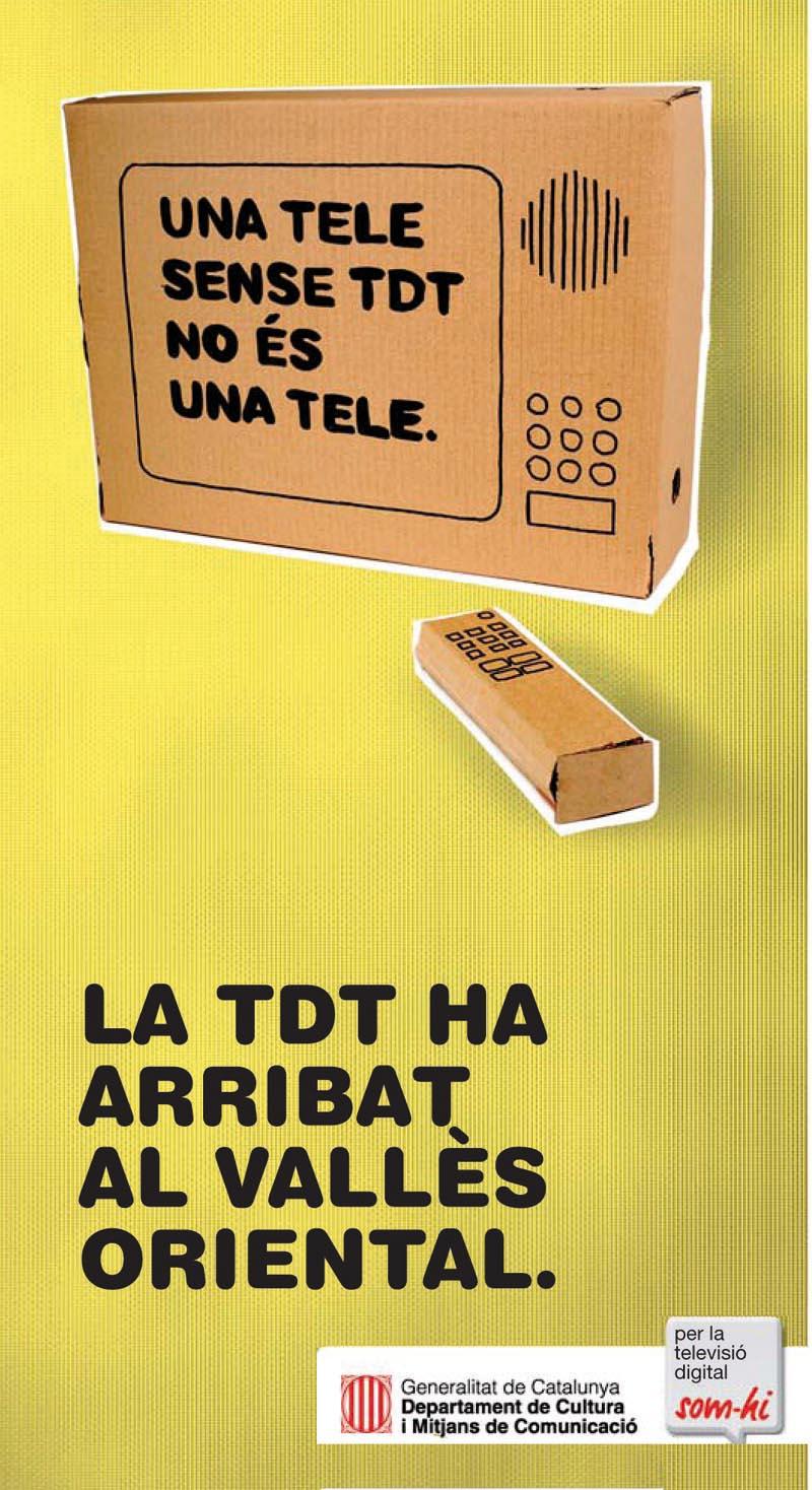 Campanya de la Generalitat sobre la implantació de la TDT