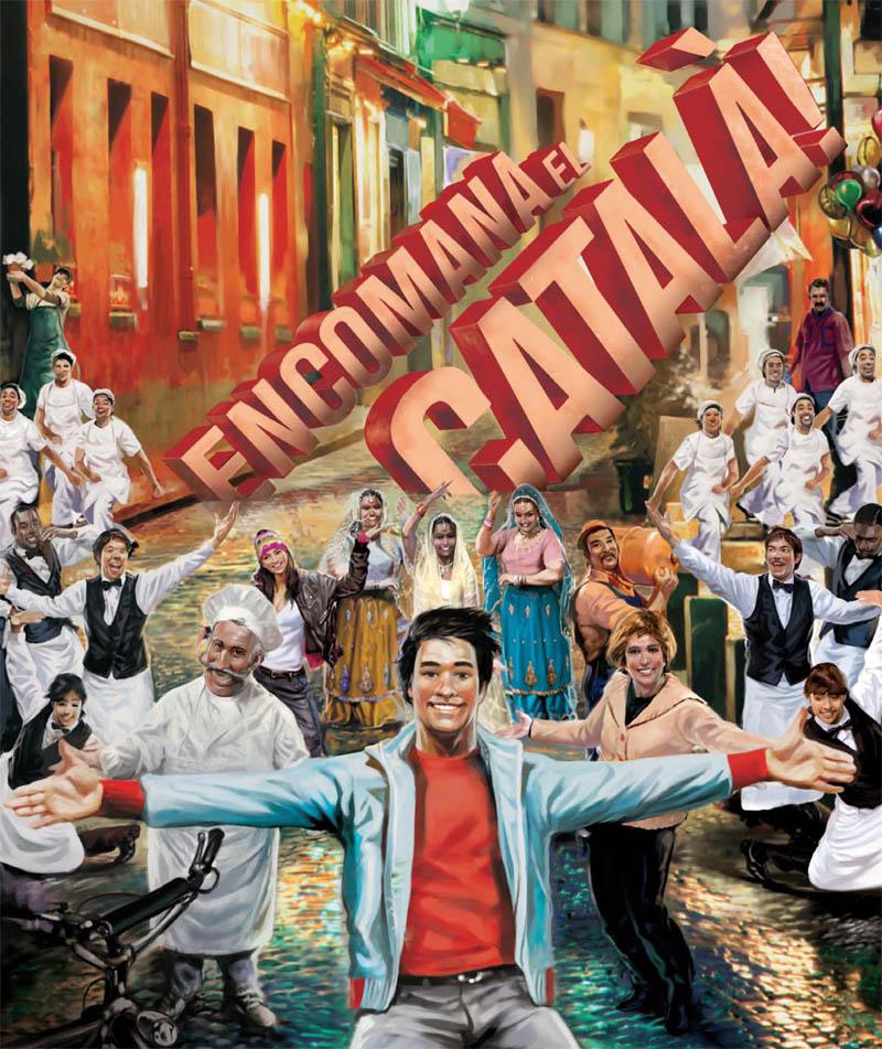 """Imatge de promoció de la campanya """"Encomana el català"""""""
