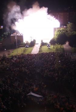 Espectacle piromusical i cremada de l'Ajuntament
