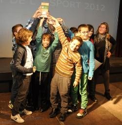 Integrants de l'equip pre-mini del Club Bàsquet Vila de Montornès - Millor equip infantil temporada 2011-2012
