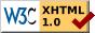Icona del W3C que indica que el document és XHTML vàlid